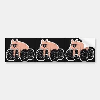 Offroaders Hedmark - 3 Pigs black Bumper Sticker