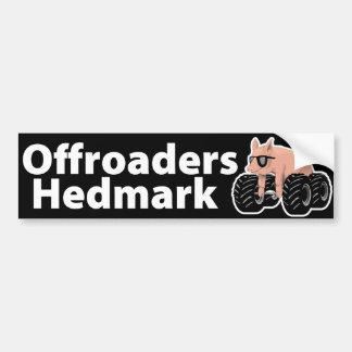 Offroaders Hedmark - Bumper sticker black