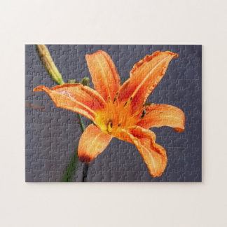 Offset Day Lily & Critter Floral  Puzzle