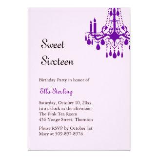 Offset Grand Ballroom Birthday Invitation (purple)