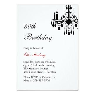 Offset Grand Ballroom Birthday Invitation (white)