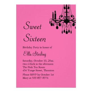 Offset Grand Ballroom Birthday Invite (fuchsia)