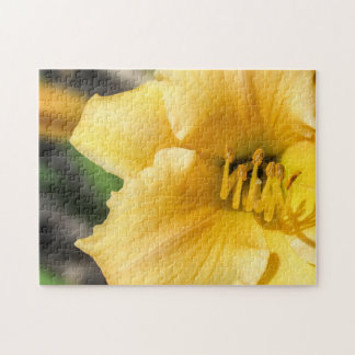 Offset Yellow Lily Puzzle