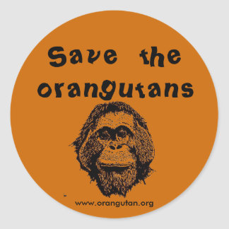 OFI - saving orangutans & rainforest Classic Round Sticker