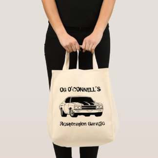 og o'connell's restoration garage tote bag