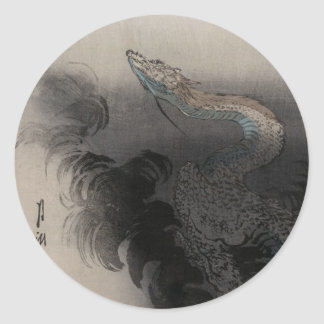 Ogata Gekko - Dragon rising to the Heavens Classic Round Sticker
