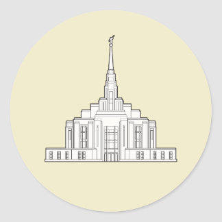 Ogden Temple labels Round Sticker
