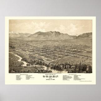 Ogden, UT Panoramic Map - 1875 Poster