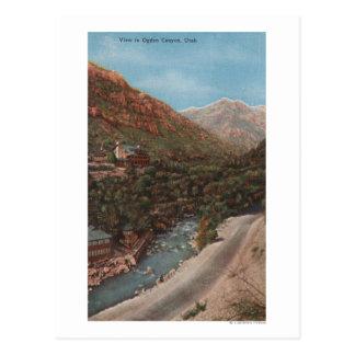 Ogden, Utah - Ogden Canyon View & River Postcard