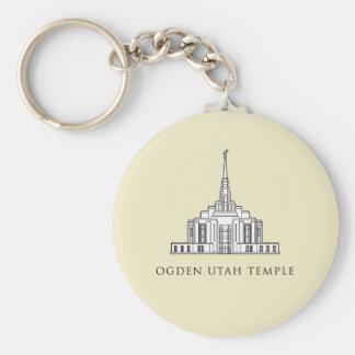 Ogden Utah Temple keychain