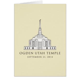 Ogden Utah Temple Sept 21 2014 greeting card