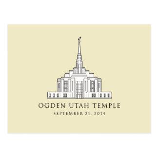 Ogden Utah Temple Sept 21 2014 post card