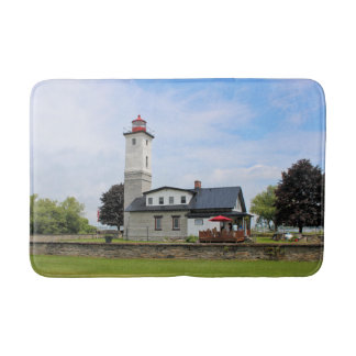 Ogdensburg Harbor Lighthouse, New York Bath Mat