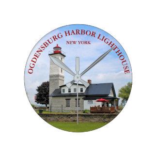 Ogdensburg Harbor Lighthouse, New York Clock