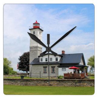 Ogdensburg Harbor Lighthouse, New York Wall Clock