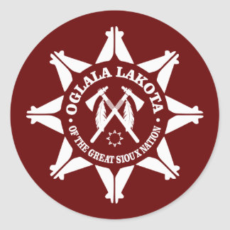 Oglala Lakota Classic Round Sticker