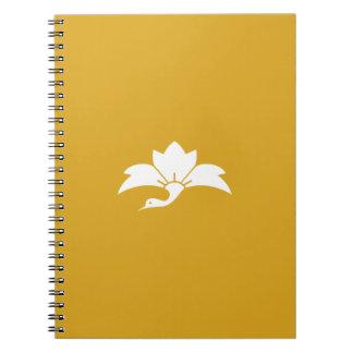 Ogre flower water caltrop crane spiral notebook