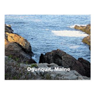Ogunquit, Maine's rocky coastline Postcard