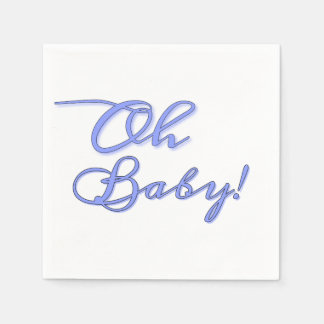 Oh BABY! (Blue) Paper Napkin