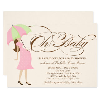 Oh Baby | Brown Script Card
