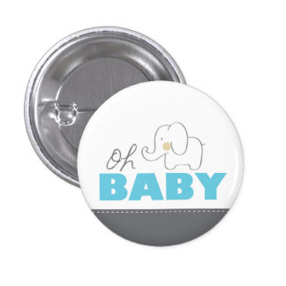 Oh Baby Elephant - Button Pinback Buttons