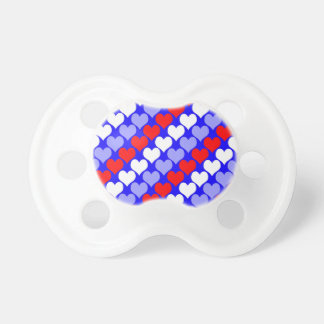 Oh Baby Hearts- Patriotic Pacifiers