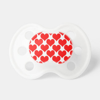 Oh Baby Hearts- Red Baby Pacifiers