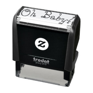 Oh baby rubber stamp