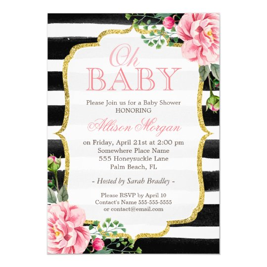 floral baby shower invitations & announcements | zazzle.au, Baby shower invitations