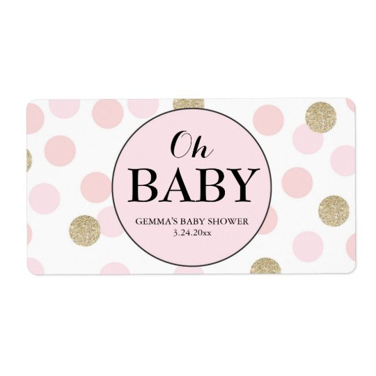 Oh Baby Shower Mini Champagne Label Girl
