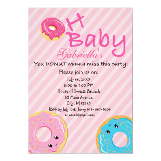 Oh Baby You DONUT Wanna Miss This Baby Shower Card