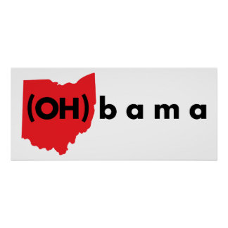 (OH)bama - Red and Black Poster