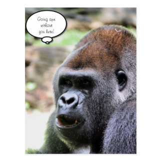 Oh bananas! Great Ape Postcard