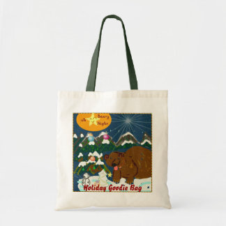 Oh Beary night Holiday Goody totebag Budget Tote Bag