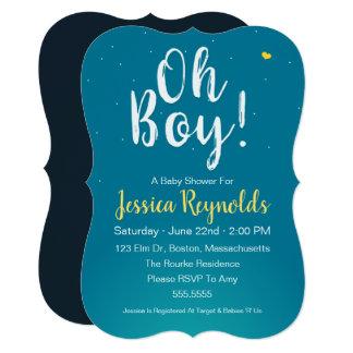 Oh Boy! – Blue Baby Boy Shower Invitation