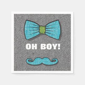 "OH BOY ""Little Man"" Baby Shower paper napkins"