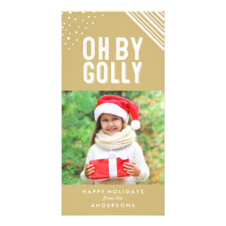 Oh By Golly | Gold Holiday Photo Card