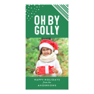 Oh By Golly | Green Holiday Photo Card