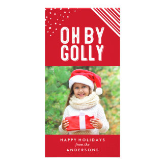 Oh By Golly | Red Holiday Photo Card
