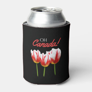 Oh Canada Maple Leaf Tulips Can Cooler