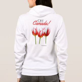 Oh Canada Maple Leaf Tulips Hoodie