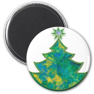 Oh Christmas Tree 6 Cm Round Magnet