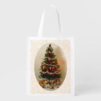 Oh, Christmas Tree Reusable Reusable Grocery Bag