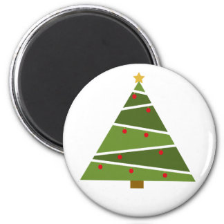 Oh Christmas Tree Round Magnet