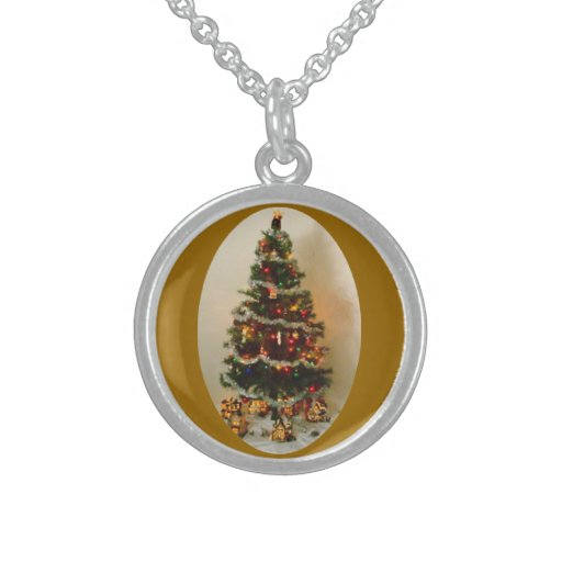 Oh, Christmas Tree Sterling Silver Round Necklace