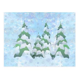 OH CHRISTMAS TREES by SHARON SHARPE Postcard