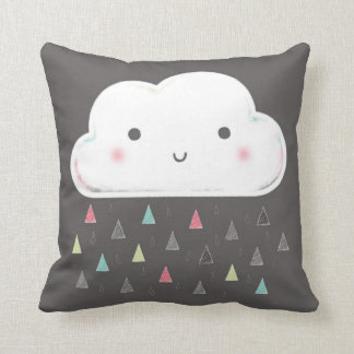 Oh cloud, it is raining triangles! + Monogram Cushion
