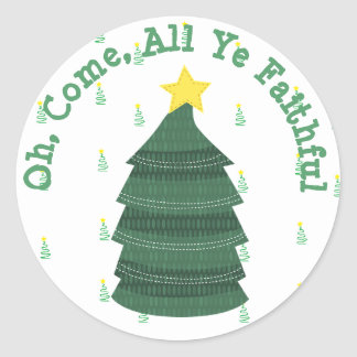Oh Come All Ye Faithful, Christmas Tree Sticker