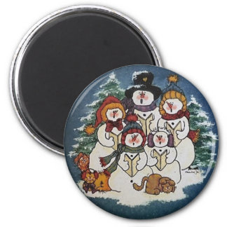 Oh Come Ye All Faithful Snowman Magnet