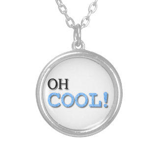 Oh Cool Text Custom Necklace